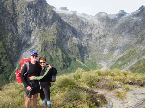 Ruth & Andrew, Milford Track, 2015